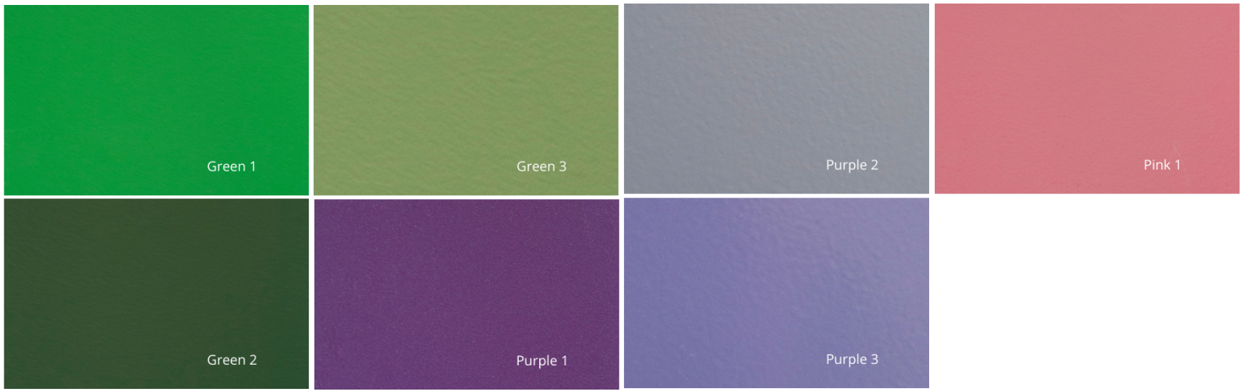 Purple Pink Green High Temp powder coating colors