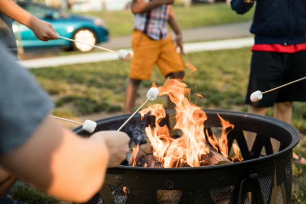 high temperature paint protects fire pit