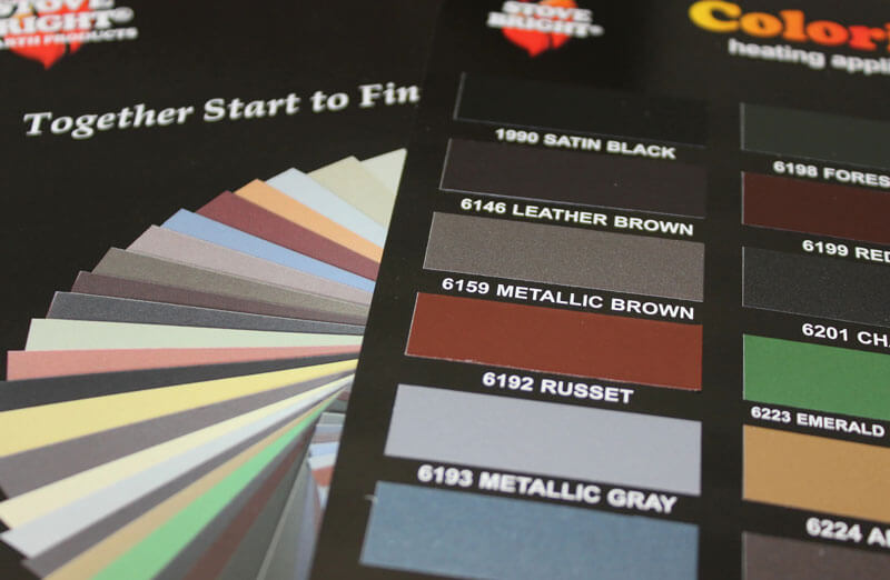 Stove Bright high temperature paint color card